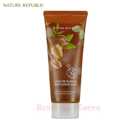 NATURE REPUBLIC Love Me Bubble Body Scrub Wash 200ml [Sweet Nuts]